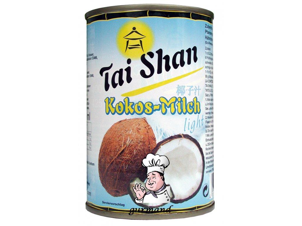 Tai Shan  Kokosové mléko light  8-10% t.v.s. neslazené 400ml
