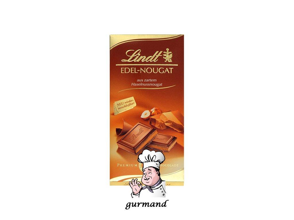 Lindt Edel-Nougat Mléčná čokoláda z jemného nugátu z lískových oříšků 100g