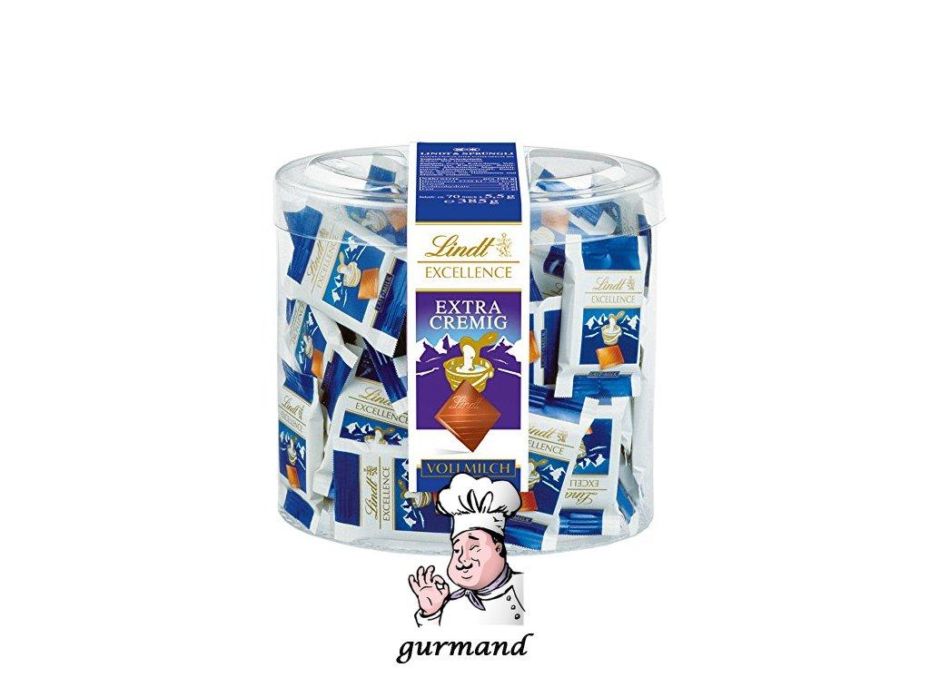 Lindt Excellence Mléčná čokoláda mini 70x5,5g