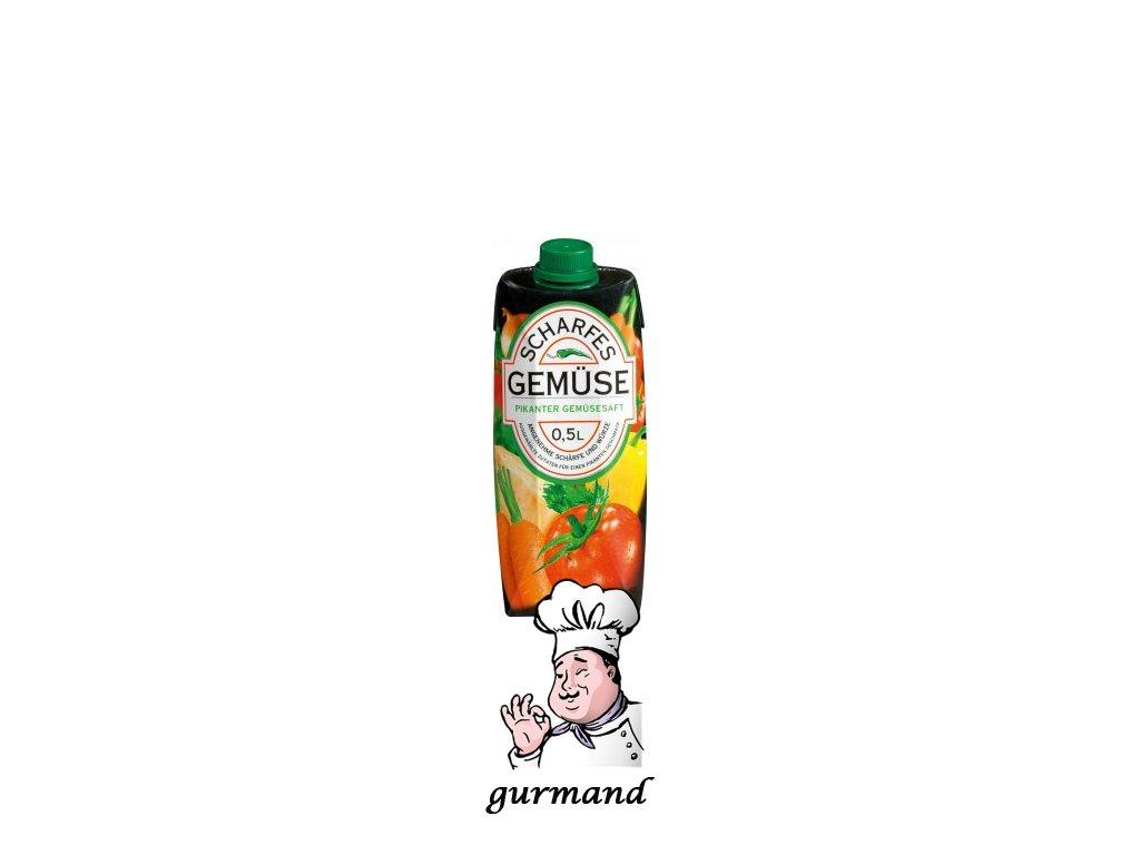 Scharfes Gemüse Pikantní zeleninová šťáva kořeněná 0,5l