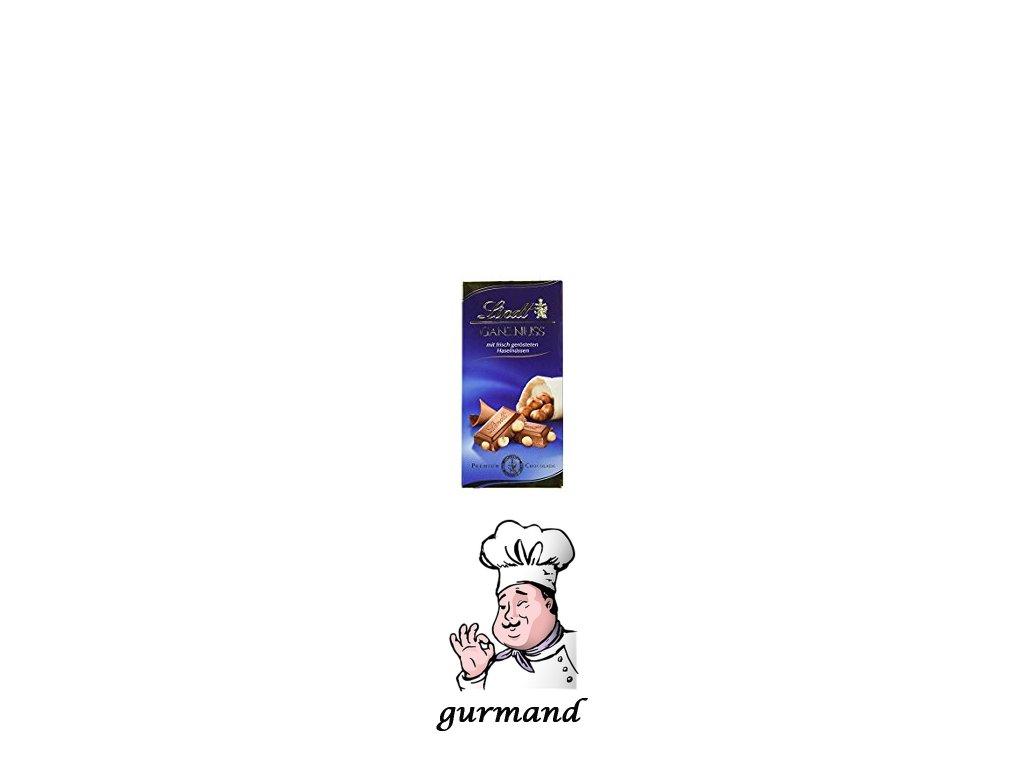 Lindt Ganznuss Mléčná čokoláda s lískovými oříšky 100g