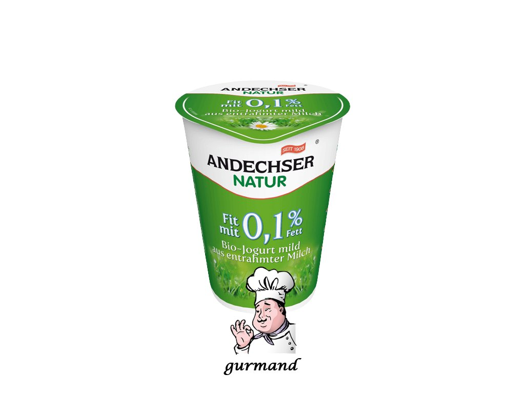 Andechser Bio jogurt bílý 0,1% t.v.s. 500g