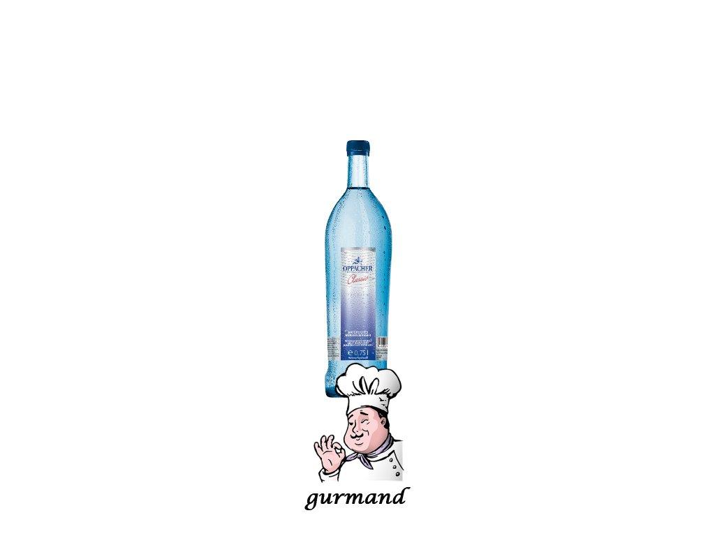 Oppacher  Voda přírodní minerální perlivá Classic 12x0,75 l