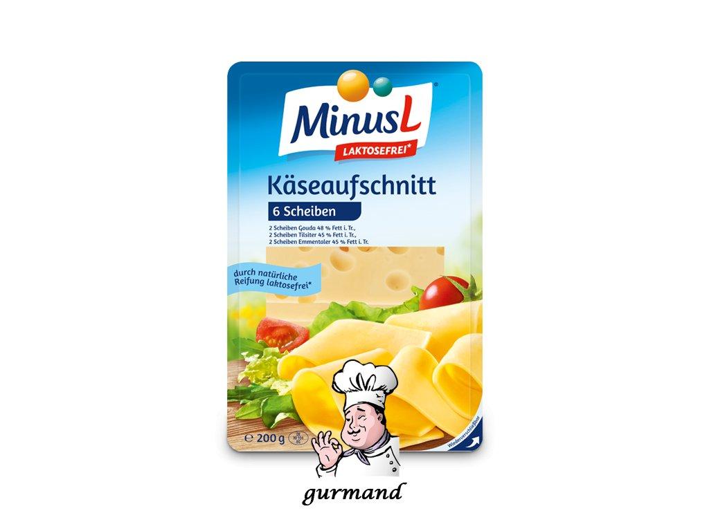 MinusL Sýrový nářez (6 plátků) se sníženým obsahem laktózy 200g