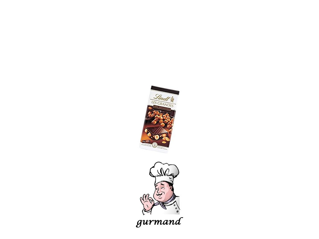 Lindt Les Grandes Hořká čokoláda s lískovými oříšky 150g