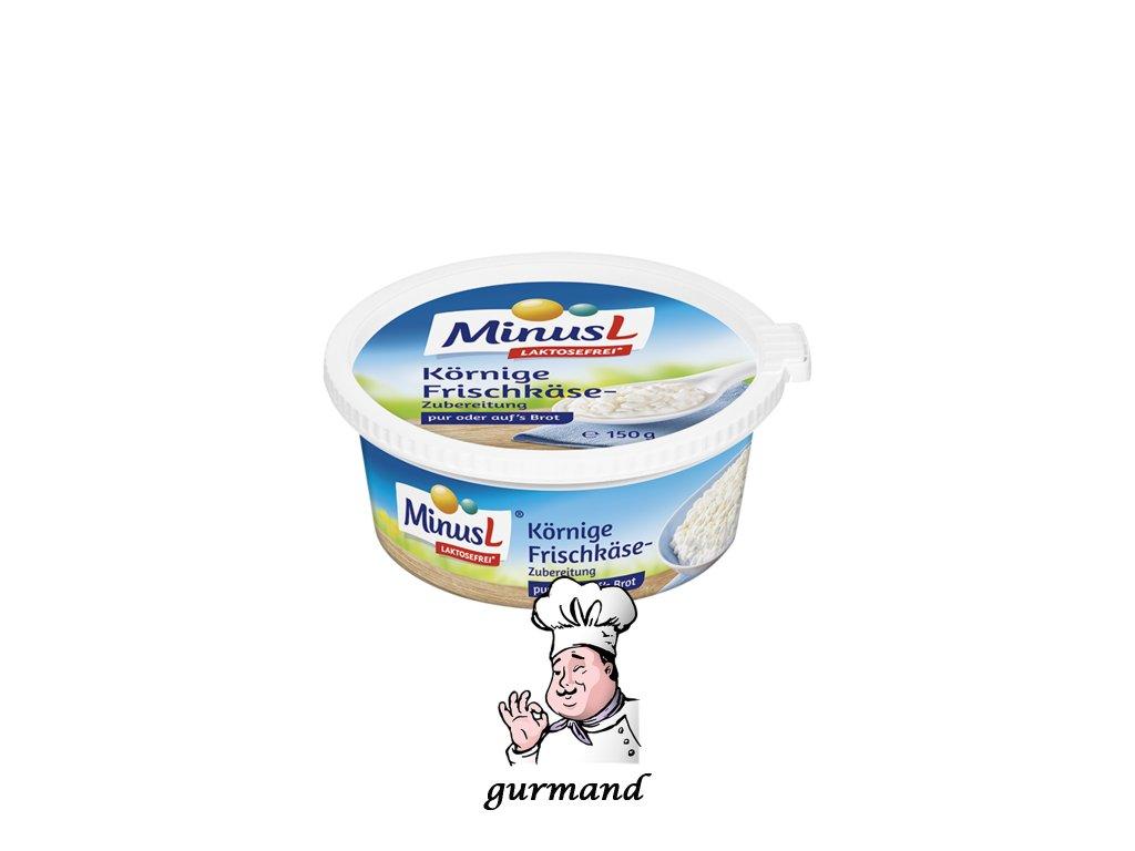 """MinusL Čerstvý sýr typu """"Cottage"""" 25% t.v.s. se sníženým obsahem laktózy 150g"""