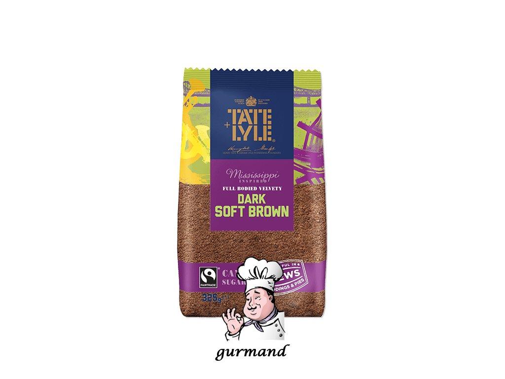 Tate&Lyle Třtinový cukr hnědý práškový (Dark Soft Brown Sugar) 500g