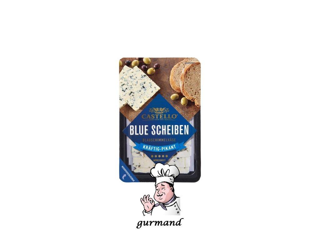 Castello Blue Scheiben Plátkový sýr s modrou plísní 60% t.v.s. 125g