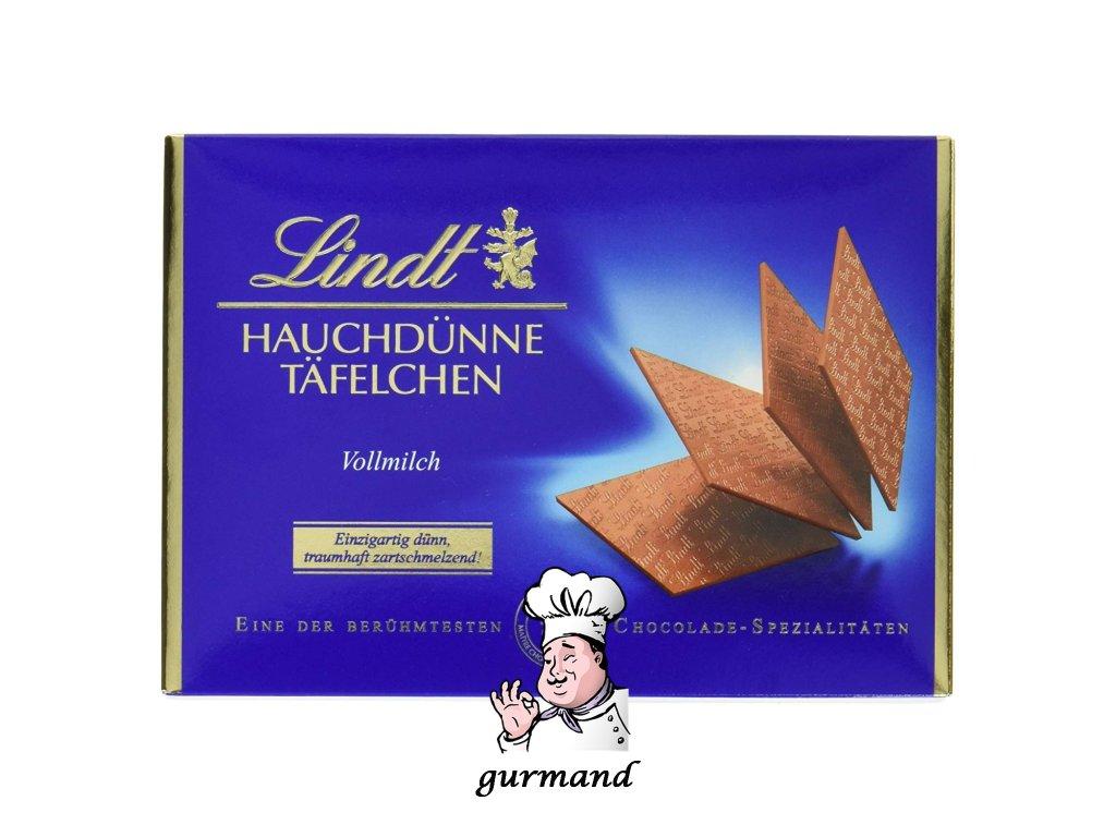 Lindt Hauchdünne Täfelchen Vollmilch Mléčná plátková čokoláda 125g