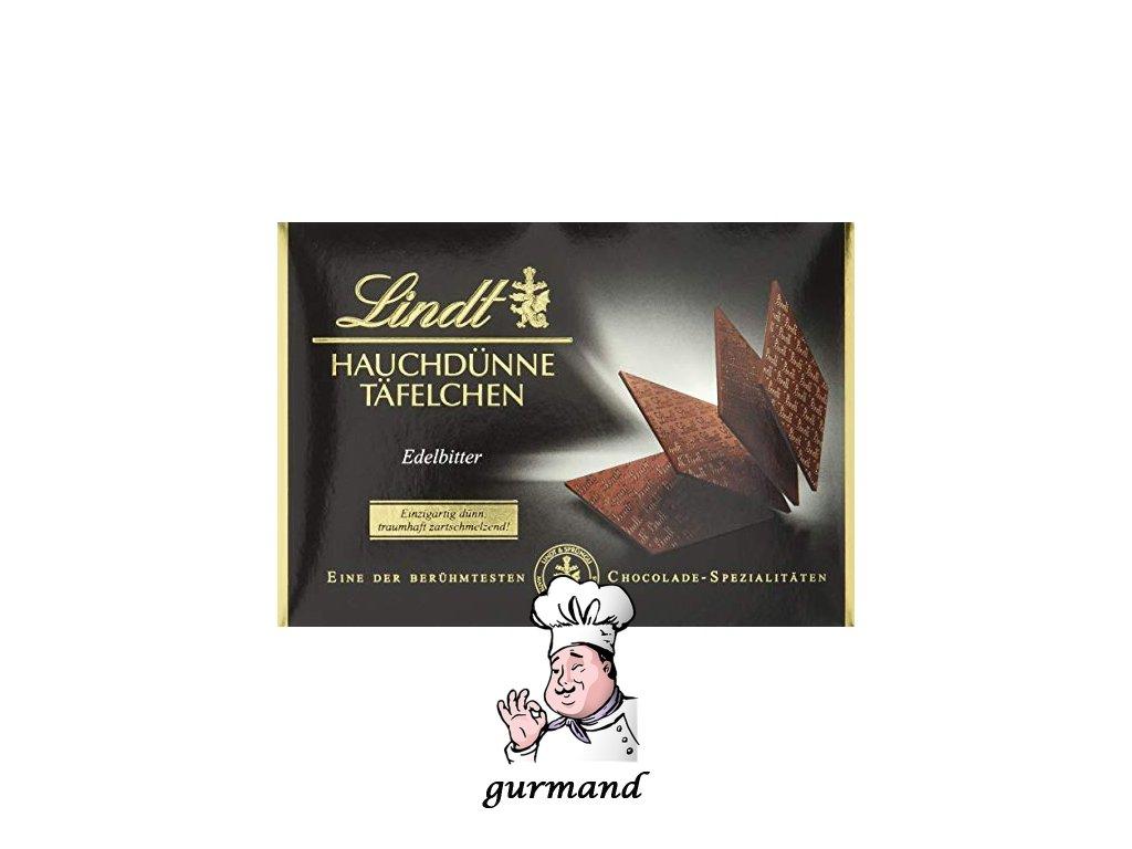 Lindt Hauchdünne Täfelchen Edelbitter Hořká plátková čokoláda 125g