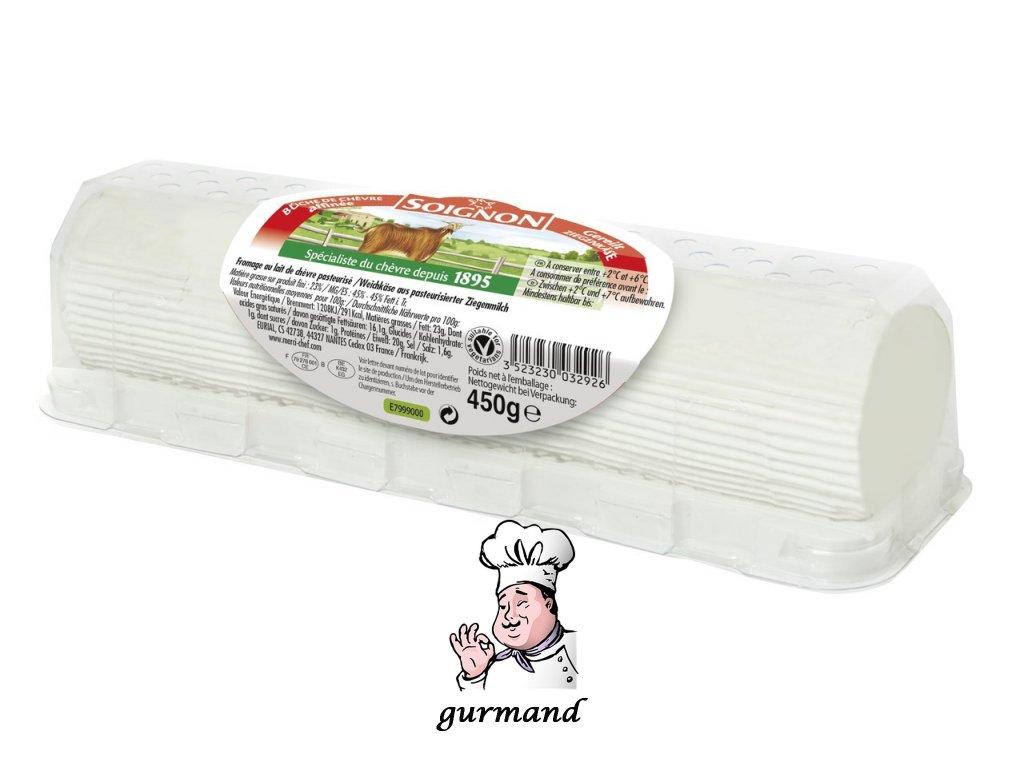 Soignon Bûche de Chèvre kozí sýr 45% t.v.s. 450g