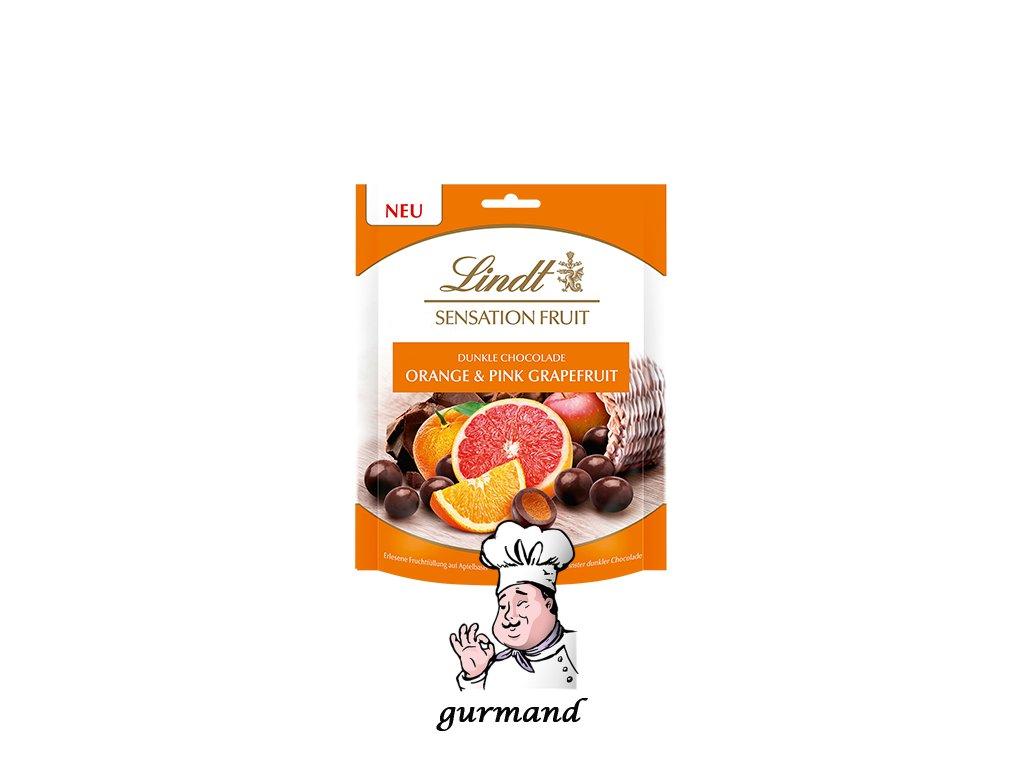Lindt Sensation Fruit Pomeranč a růžový grapefruit v hořké čokoládě 150g