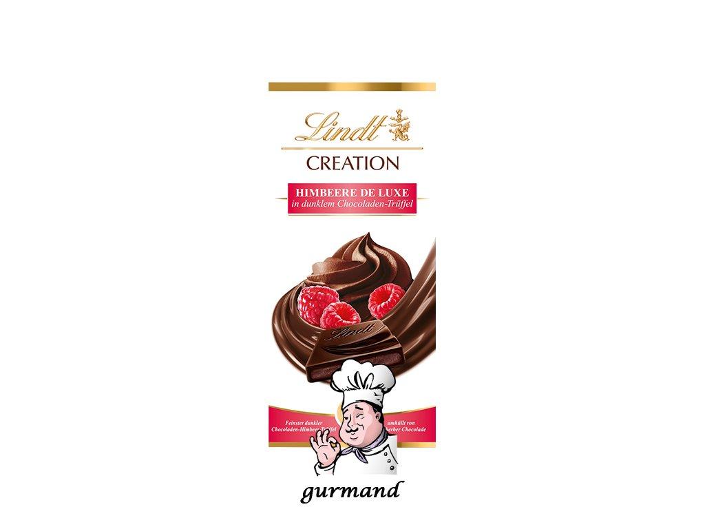 Lindt Creation Maliny s tmavým čokoládovým lanýžem 150g