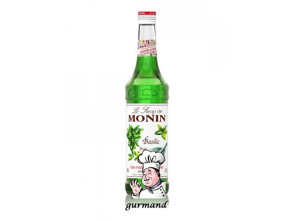 Monin Basilic Bazalkový sirup 0,7l