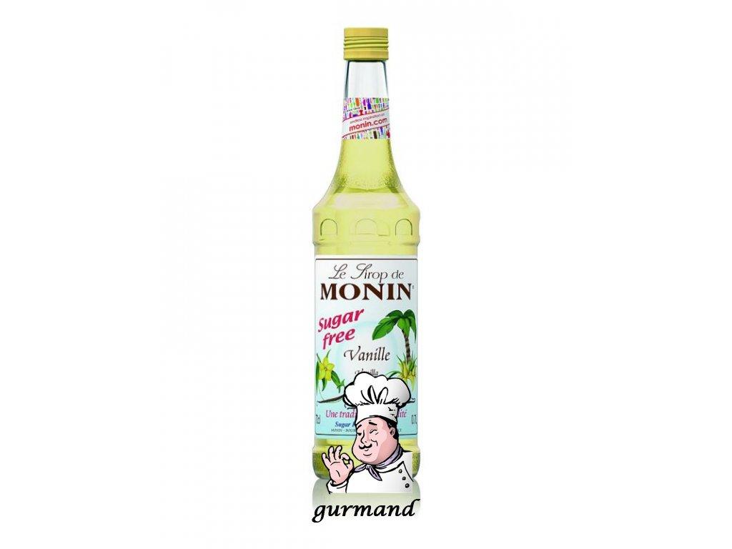 Monin Vanille Light Vanilkový sirup bez cukru 0,7l