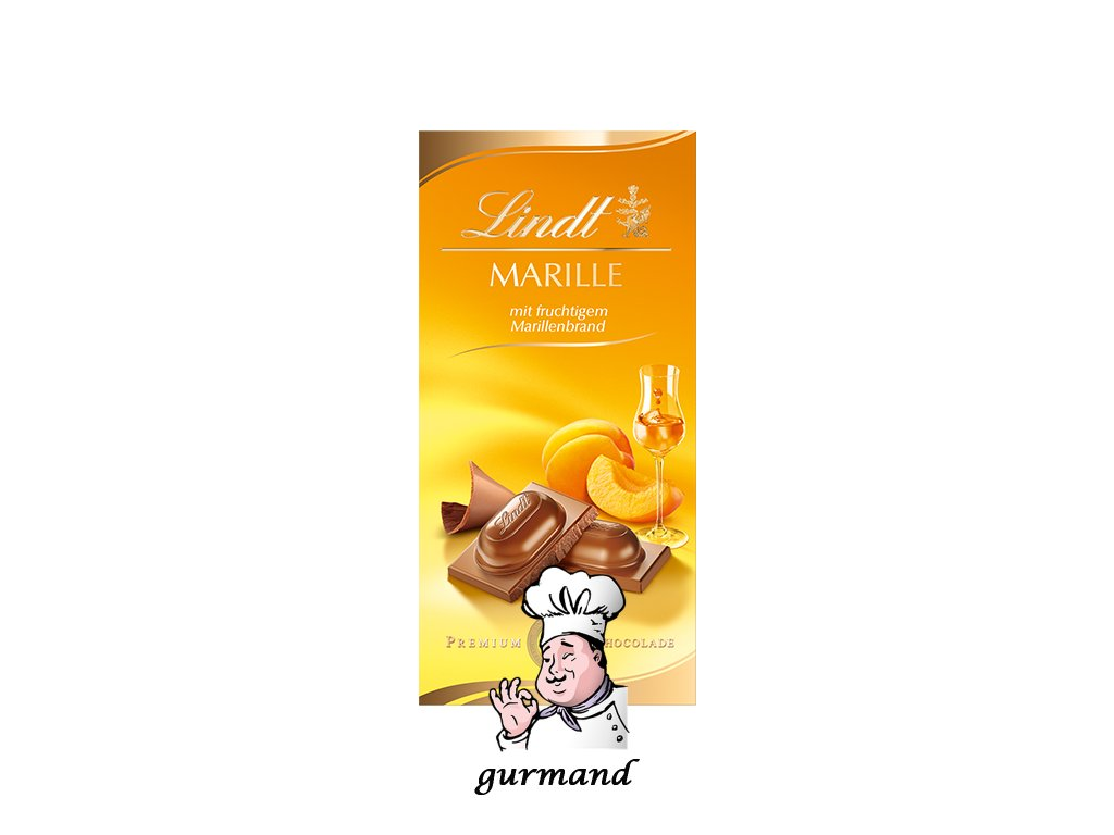 Lindt Marille Mléčná čokoláda s meruňkovicí 100g