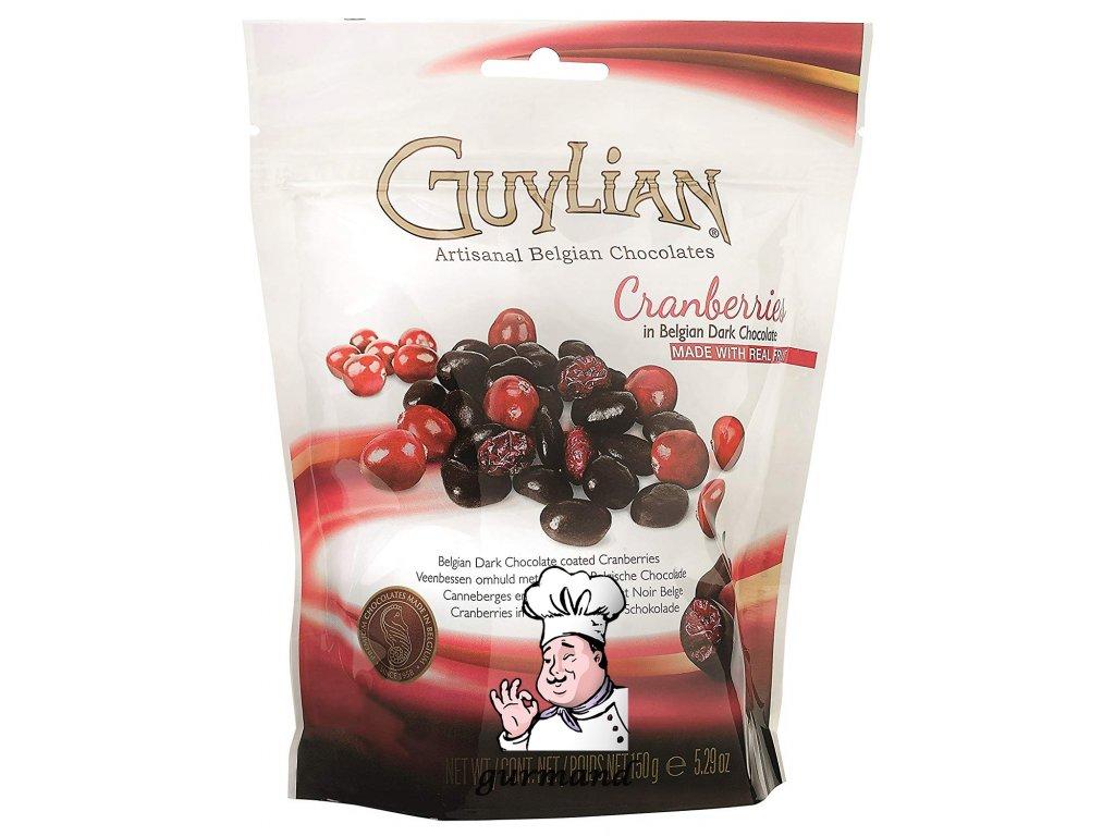 Guylian Brusinky (Cranberries) v hořké čokoládě 150g