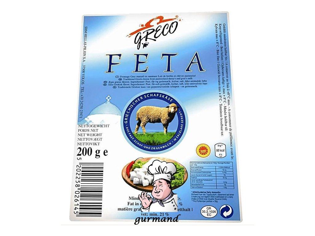 GRECO Řecký ovčí sýr Feta 48% t.v.s. 200g