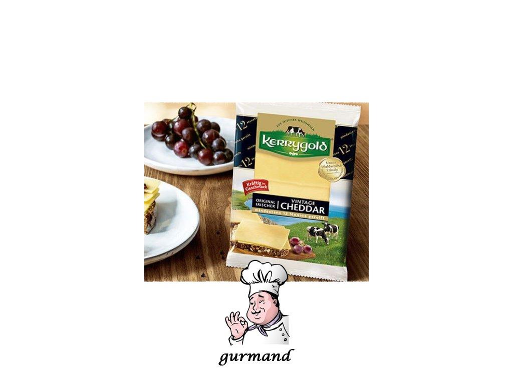 Kerrygold Cheddar Vintage jemně kořeněný porcovaný 12 měsíců zralý 32% t.v.s. 125g