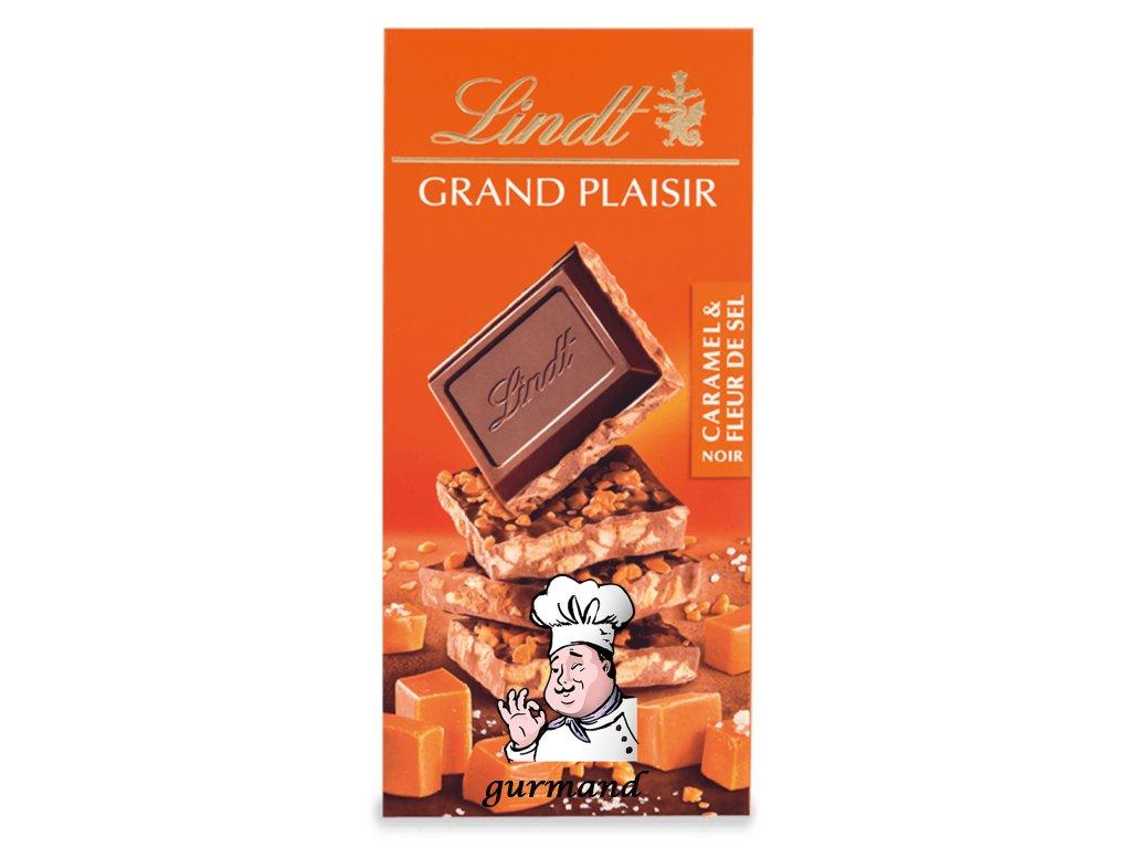 Lindt Grand Plaisir Tmavá čokoláda s karamelem a mořskou solí 150g
