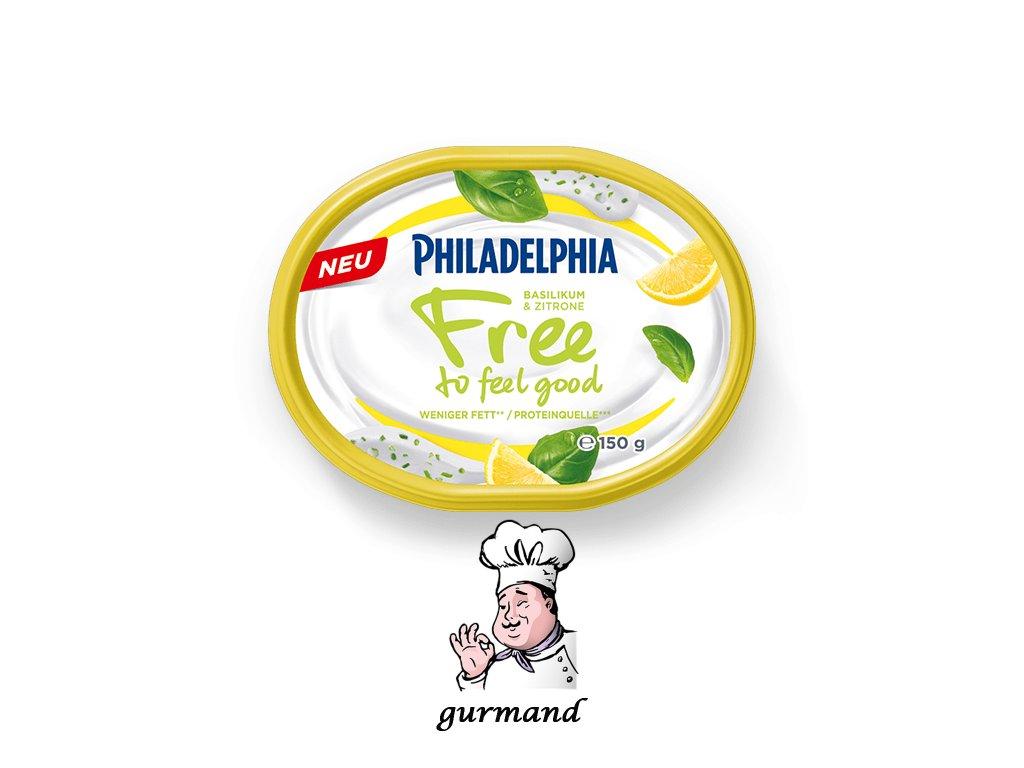 Philadelphia  Free to feel good Sýr s bazalkou a citrónem 150g