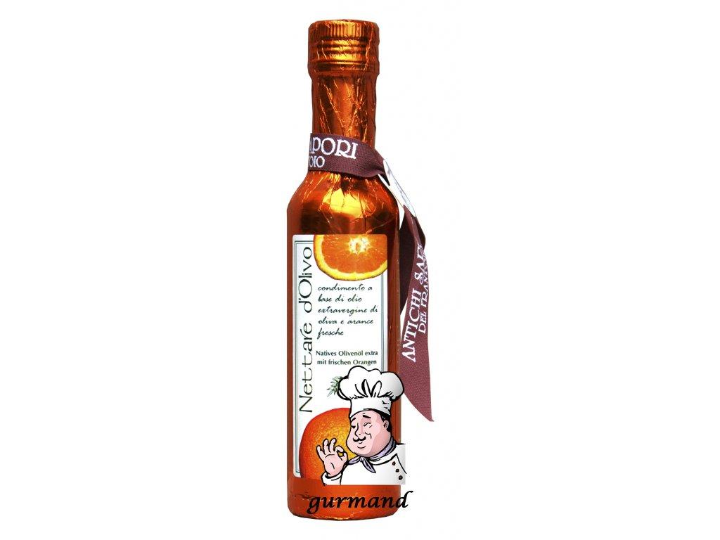 Antichi Sapori del Frantoio  Olej olivový panenský extra 250ml ochucený čerstvou pomerančovou šťávou