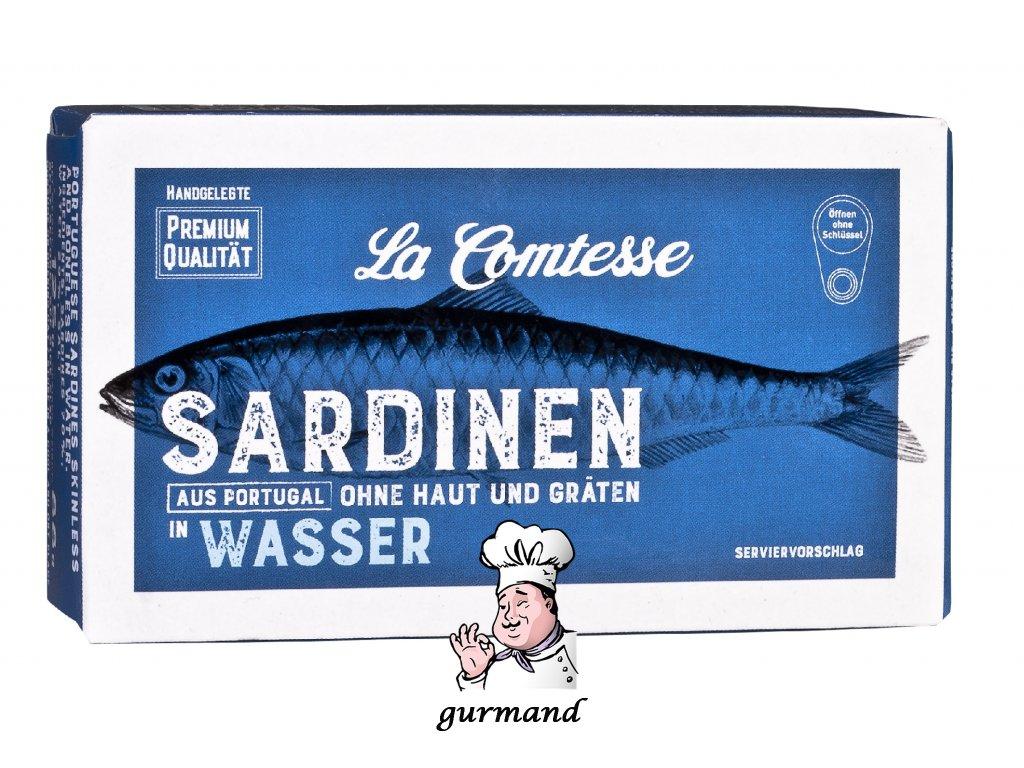 La Comtesse Sardinky bez kůže a bez kostí ve vodě 125/88g