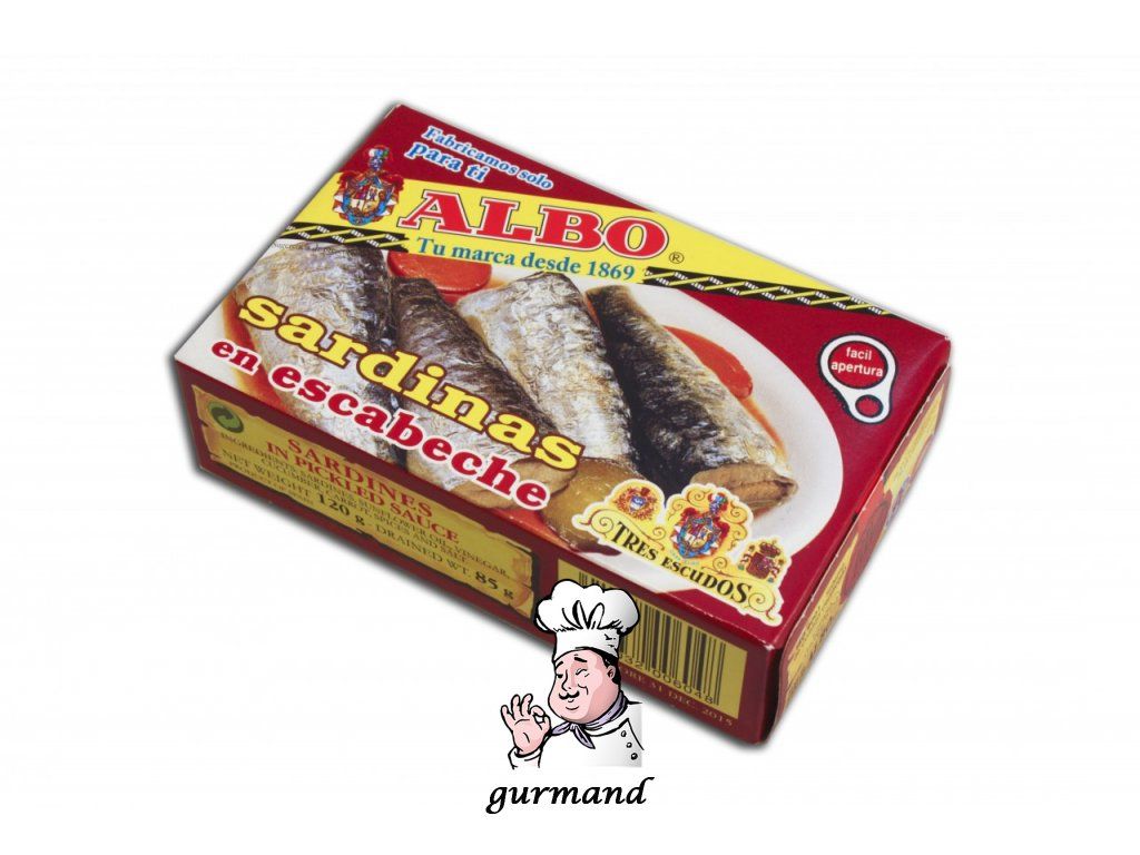 Albo  Sardinky marinované (escabeche) 120/85g