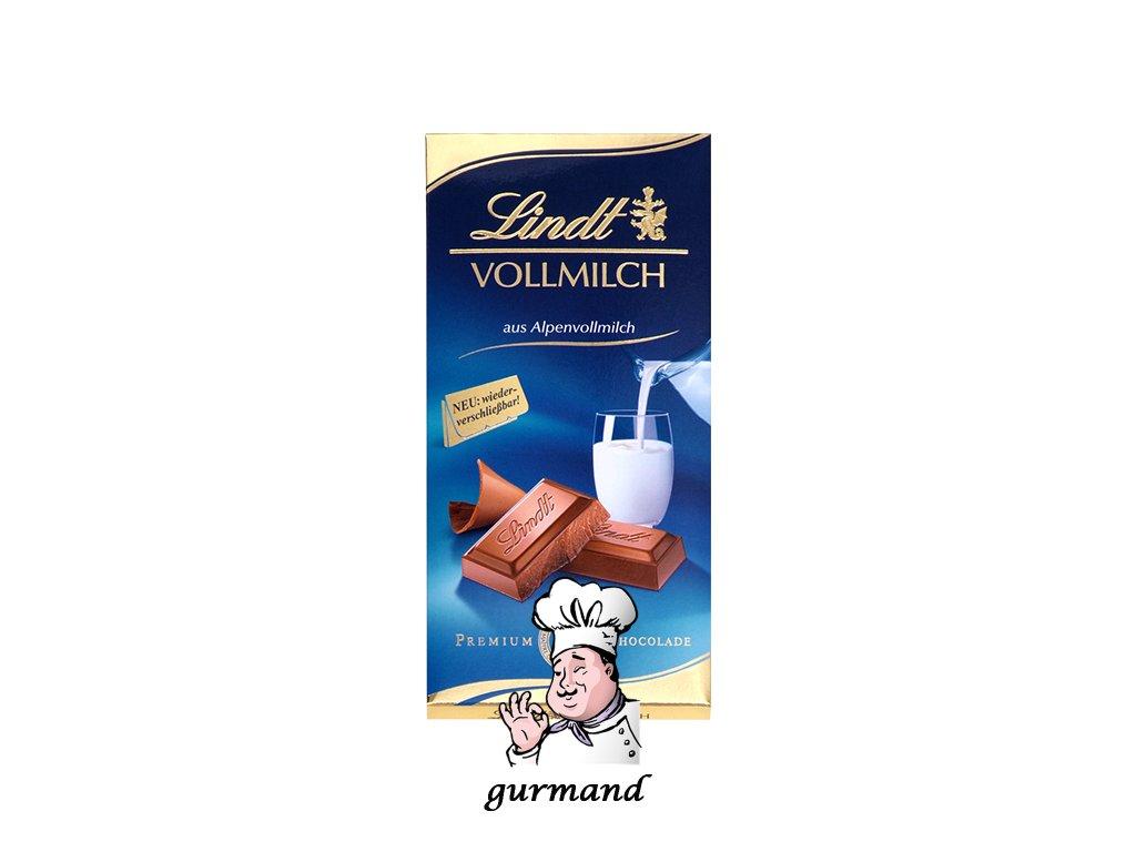 Lindt Vollmilch Mléčná čokoláda z alpského mléka 100g