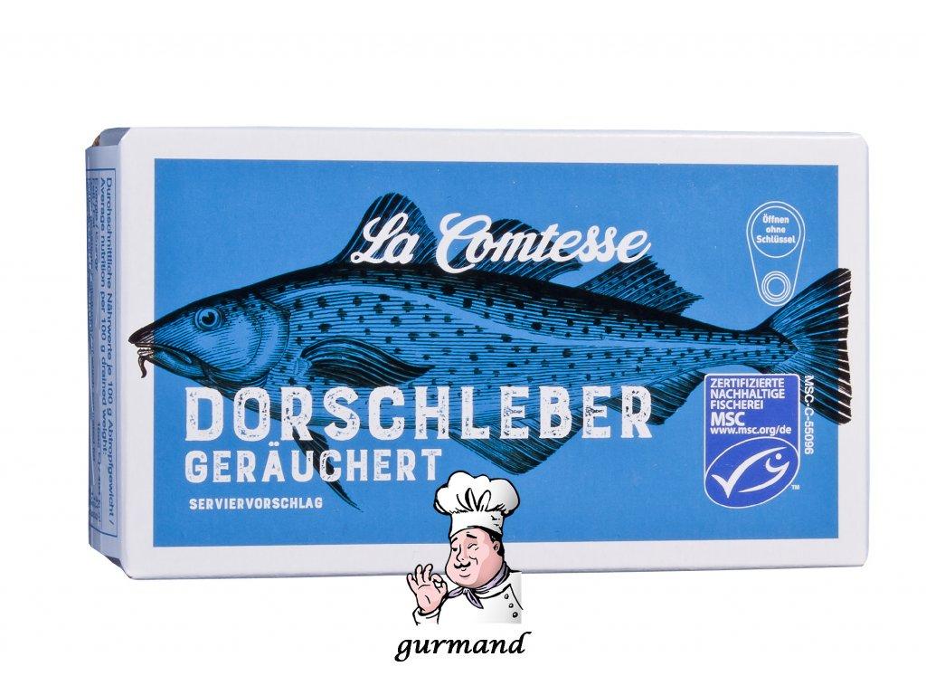 La Comtesse Tresčí játra jemně uzená ve vlastním oleji 120g