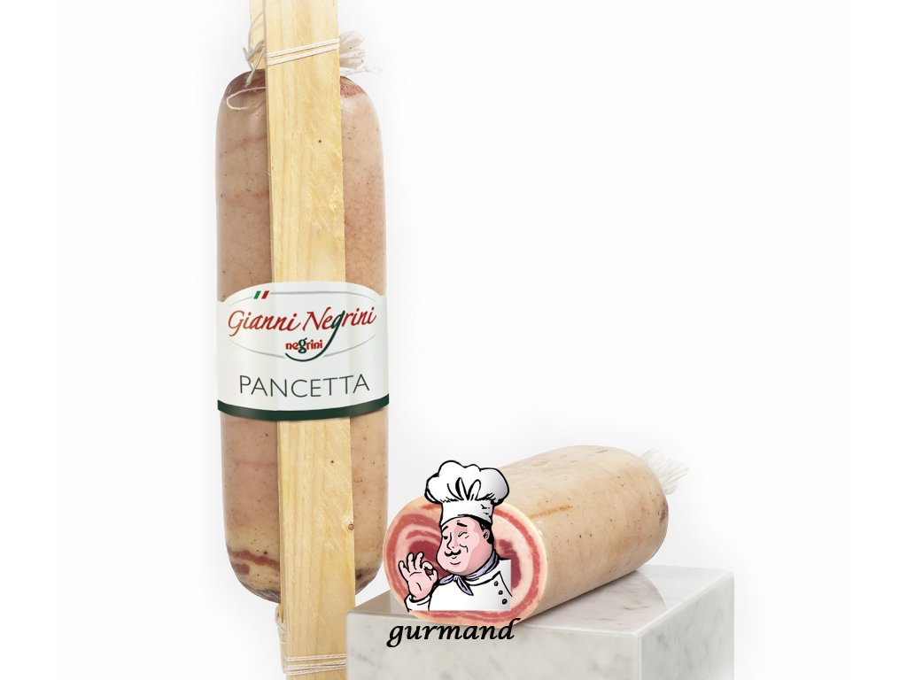 Pancetta Stagionatta slanina rolovaná kusová cca 1,5kg