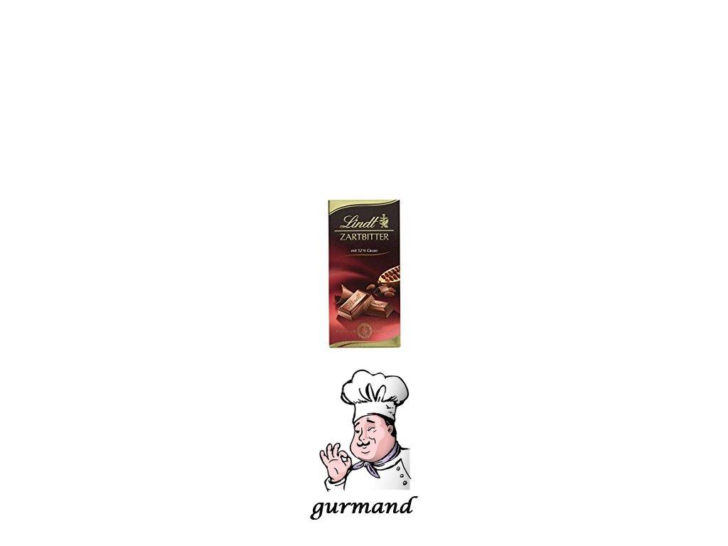 Lindt Zartbitter Hořká čokoláda s 52% kakaa 100g