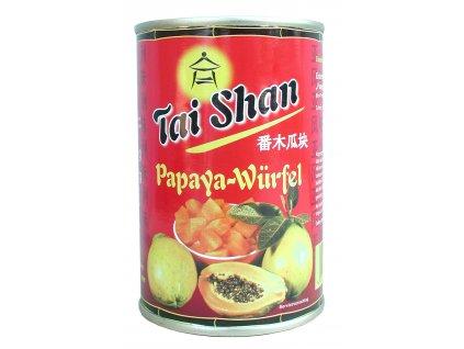 Tai Shan  Papaya kostky v nálevu 425/230g