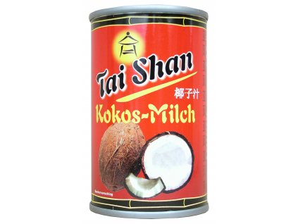 Tai Shan  Kokosové mléko 17-19% t.v.s. neslazené 165ml