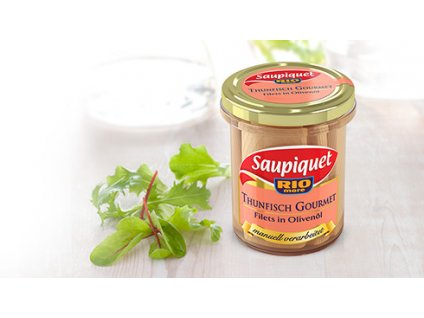 Saupiquet Tuňák Gourmet, řezy v olivovém oleji 180/117g