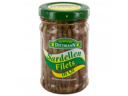 Dittmann Sardelové řezy ve slunečnicovém  oleji 100g