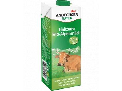 Andechser Bio alpské trvanlivé plnotučné mléko 3,5% t.v.s. 1L
