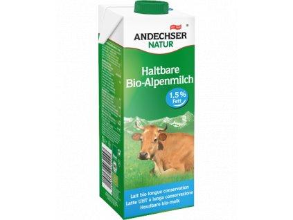 Andechser Bio alpské trvanlivé polotučné mléko 1,5% t.v.s. 1L