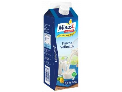MinusL Čerstvé plnotučné mléko 3,8% t.v.s. se sníženým obsahem laktózy 1L