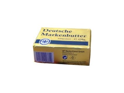 Máslo německé značkové 82% t.v.s. 250g