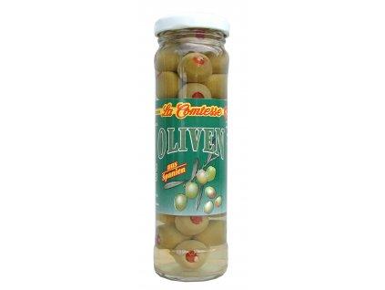 La Comtesse  Olivy zelené španělské plněné paprikou 140/90g