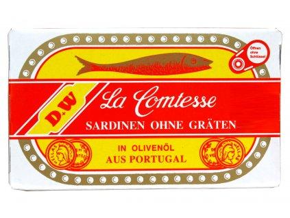 La Comtesse Sardinky bez kostí v olivovém oleji 125/88g