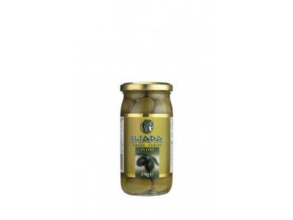 ILIADA Zelené řecké olivy velké s peckou 370g