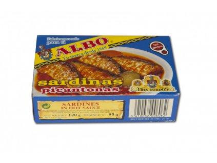 Sardinky v pikantní kořeněné omáčce 120/85g