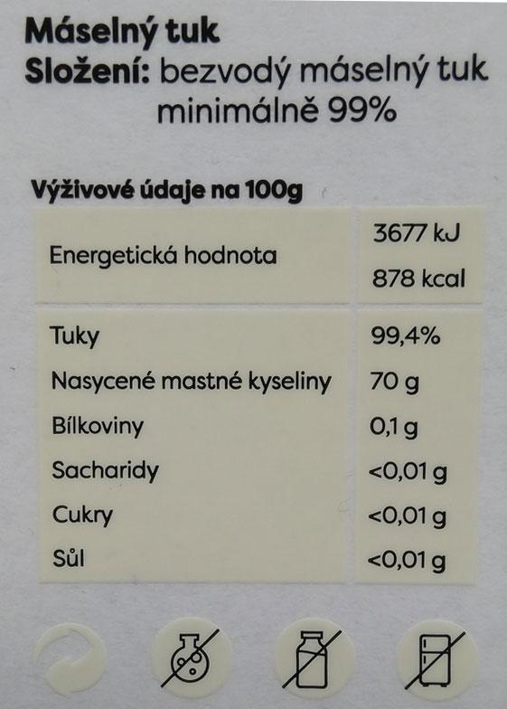 Ghí-české-přepuštěné-máslo-Gurmetéka-energetická-tabulka