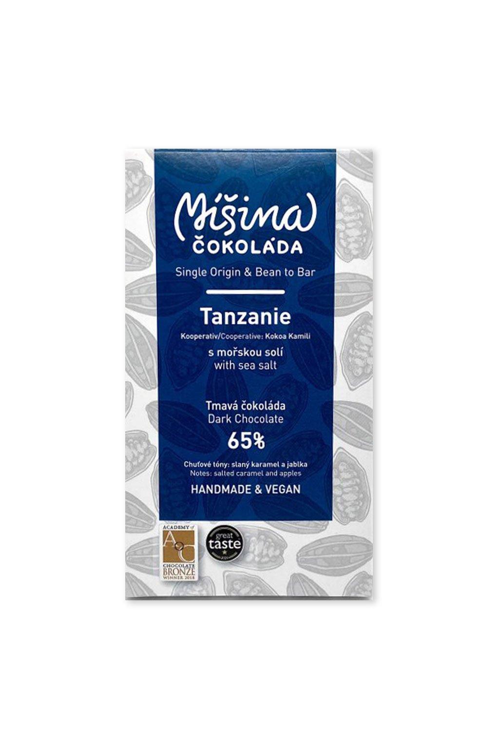 Tanzanie 65% tmavá s mořskou solí