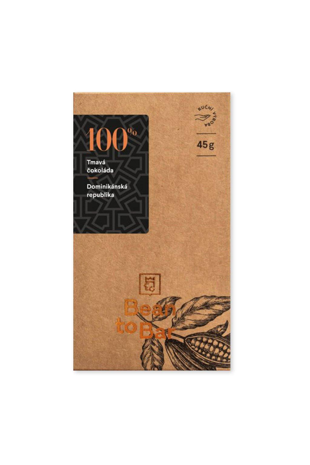 Čokoládovna Janek Tmavá 100% Dominikánská republika