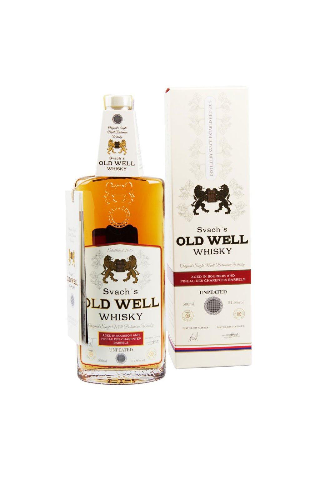 Svachovka Old Well whisky Bourbon a Pineau 51,9 2