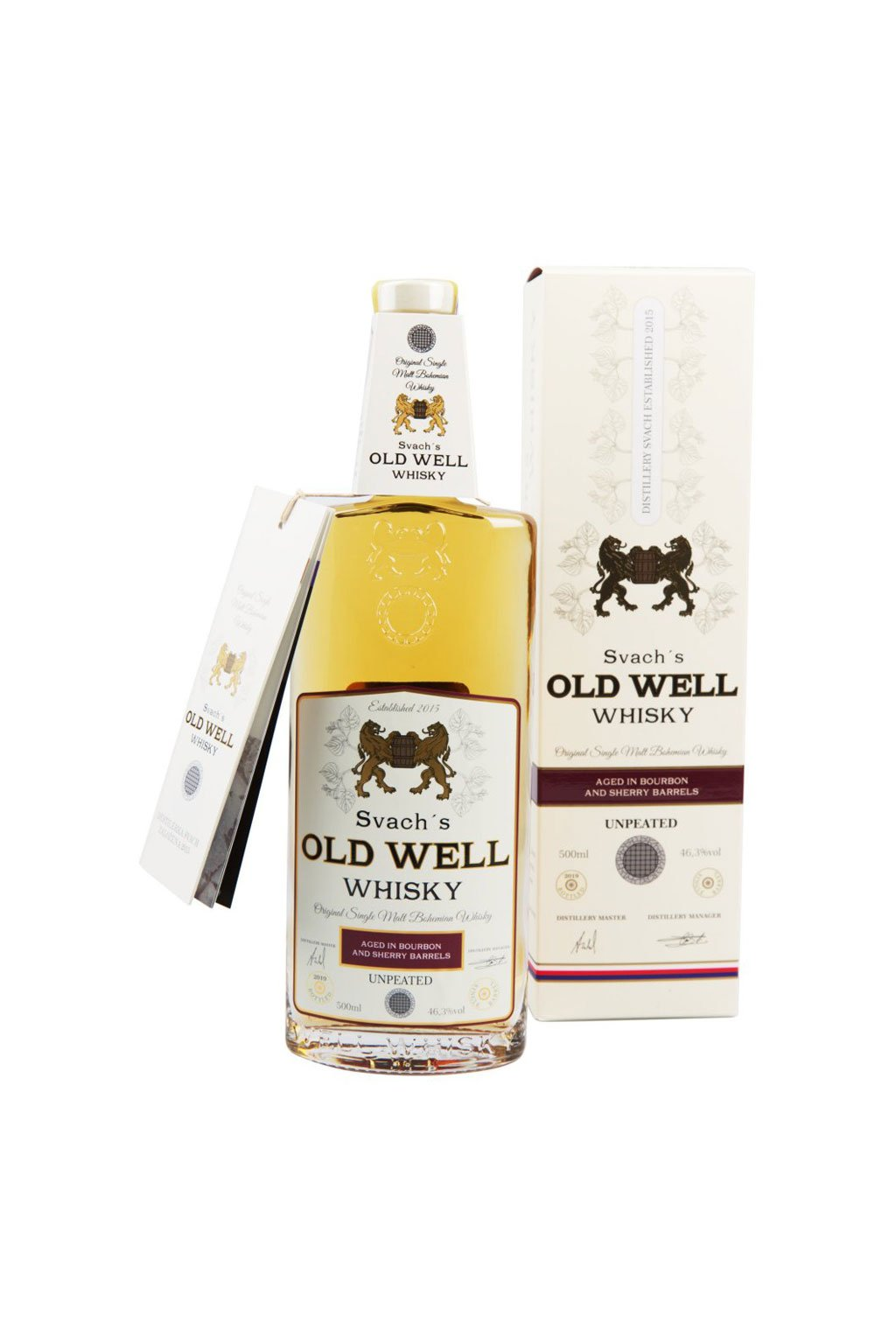 Svachovka Old Well whisky Bourbon a Sherry 42,4 0,5l 2