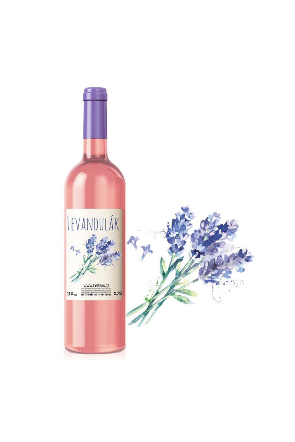 Levandulák ovocné víno z levandule Gurmetéka